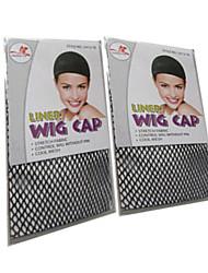 Недорогие -черный парик шапки чистый аксессуары парик специальный парик чистый Антипробуксовочная фиксированную волосы для парика 2шт