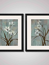 cheap -Framed Art Print Framed Canvas Framed Set Abstract Landscape Still Life Floral/Botanical Wall Art, PVC Material With Frame Home Decoration