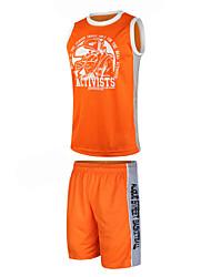 フィットネス / バスケットボール - トップス / ボトムズ / トレーナー ( ホワイト / レッド / ブラック / オレンジ ) - 男性用 - 高通気性 / 速乾性 / wicking / バクテリア対応