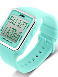 cheap -SKMEI® Women's Candy Color Silicone Square LCD Digital Sports Strap Watch Cool Watches Unique Watches