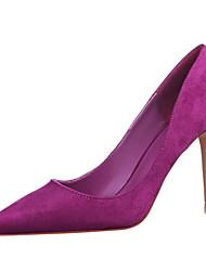 preiswerte -Damen Schuhe Vlies Frühling Sommer Neuheit Pumps High Heels Stöckelabsatz Spitze Zehe Kombination Für Kleid Party & Festivität Gelb Rot