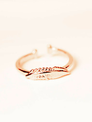 Hot Sales Women's Rose Gold Plated Open Ring