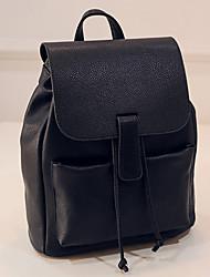 Žene Torbe PU ruksak Putna torba Školska torba za Šoping Kauzalni Vanjski Sva doba Crn Bež Tamno siva Svijetlosiva