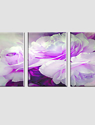 cheap -Popular 3Pcs Hot Sell Modern Wall Painting Pink Flower Home Decorative Wedding Art Picture Paint On Canvas Prints