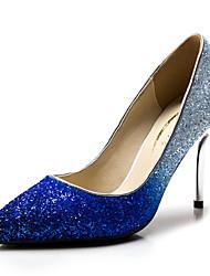 Women's Shoes Synthetic / Glitter Stiletto Heel Heels / Heels Wedding / Party & Evening / Dress Blue / Silver / Gold
