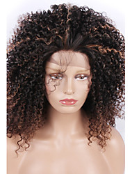 cheap -fashion synthetic wigs lace front wigs kinky curly black and brown heat resistant hair wigs women