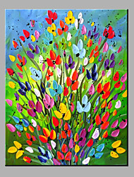 Hånd-malede Blomstret/BotaniskModerne Et Panel Kanvas Hang-Painted Oliemaleri For Hjem Dekoration