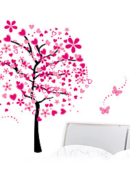 cheap -Peach Blossom Large Flower Tree Wall Decal Removable Stickers Decor Kids Nursery