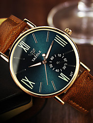 cheap -YAZOLE Men's Wrist watch Quartz Casual Watch Leather Band Casual Brown