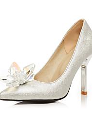 abordables -Femme Chaussures Paillettes / Similicuir Printemps / Eté Confort / Escarpin Basique Chaussures à Talons Talon Aiguille Bout pointu Strass