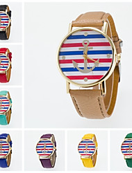 cheap -Women's Fashion Watch Quartz Hot Sale PU Band Charm Black White Blue Red Orange Brown Green Pink Purple Yellow Khaki Rose