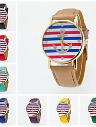 Недорогие -Жен. Наручные часы PU Группа Кулоны / Мода Черный / Белый / Синий