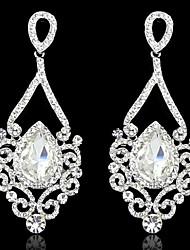 cheap -Women's AAA Cubic Zirconia Zircon Cubic Zirconia Drop Earrings - Birthstones White Golden Earrings For Wedding Party
