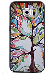 billiga -fodral Till Samsung Galaxy Samsung Galaxy S7 Edge Mönster Skal Träd TPU för S7 Active / S7 plus / S7 edge