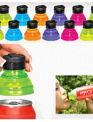 cheap -Set of 6 Creative Soda Savers Toppers Reusable Bottle Caps Can Convert