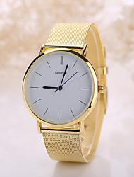 baratos -Homens / Mulheres Relógio de Pulso Relógio Casual Aço Inoxidável Banda Boêmio / Fashion Prata / Dourada