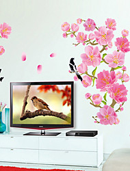 The New Magpie Peach Blossom Sofa Setting Wall Sticker Sitting Room Tv Setting Decorates A Wall Post