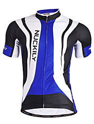 cheap -Nuckily Cycling Jersey Men's Short Sleeves Bike Jersey Top Quick Dry Anatomic Design Moisture Permeability Front Zipper Water Bottle
