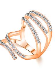 Import Zircon Crystal Simple Jewelry Female Creativity Ring