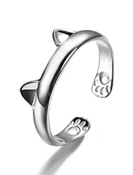 cheap -Women's Cuff Ring Fashion Cute Style Costume Jewelry Silver Sterling Silver Animal Shape Jewelry For Party Daily Casual