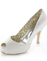 cheap -Women's Spring Summer Stretch Satin Wedding Dress Party & Evening Stiletto Heel Ivory