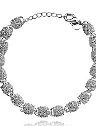 cheap -Lureme® Charming Shiny Jewlery Bead Hollow Out Silver Plated Bracelets for Women