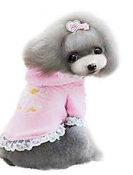 abordables -Perro Abrigos Ropa para Perro Morado Rosa Algodón Disfraz Para mascotas Hombre Mujer Moda