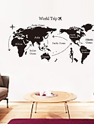 cheap -Hot World Map Wall Stickers Office Living Room Decorations  Diy Vinyl Adesivo De Paredes Home Decals Mual Art