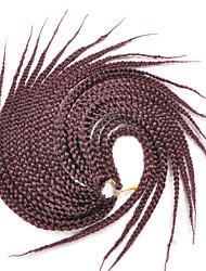 cheap -Red Box Braids Afro Kinky Braids Hair Extensions 18inc Kanekalon 20/1 Strand 90g gram Hair Braids