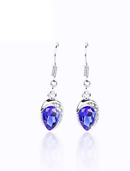 Luxury Austria Crystal Drop Earrings for Women Waterdrop Earrings Fashion Jewelry Accessories Silver Plated