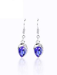 cheap -Luxury Austria Crystal Drop Earrings for Women Waterdrop Earrings Fashion Jewelry Accessories Silver Plated