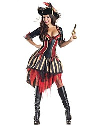 Wizard/Witch Cosplay Costumes Party Costume Female Halloween Carnival Festival/Holiday Halloween Costumes Red/black Patchwork