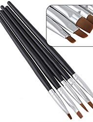 5pcs / set nuova penna salone di bellezza di arte del chiodo salone di gel UV acrilico kit pennello piatto che punteggiano strumento per