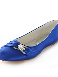 cheap -Women's Shoes Silk Flat Heel Round Toe Flats Wedding / Party & Evening / Dress Pink / Purple / Red / Silver / Royal Blue