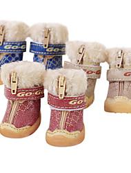 Cachorro Sapatos e Botas Fashion Botas de Neve Marron Vermelho Azul Para animais de estimação