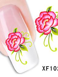 11 Adesivos para Manicure Artística Transferência de água adesivo Flor Adorável maquiagem Cosméticos Designs para Manicure