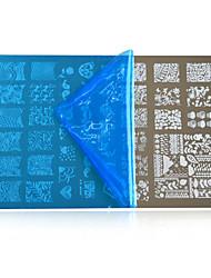 Недорогие -1шт новый 2016 поделки красоты изображение для ногтей трафареты искусства ногтя штамповки пластины способа конструкции ПОЛЬСКИЙ шаблоны