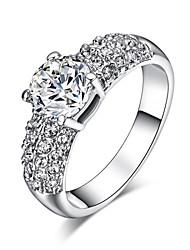 baratos -Maxi anel Cristal imitação de diamante Liga Clássico Moda Prata Dourado Jóias Casamento Festa 1peça