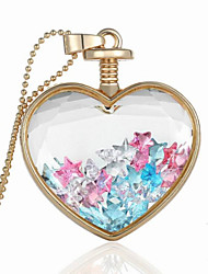 cheap -Fashion Jewelry Romantic Crystal Glass Heart Shape Floating