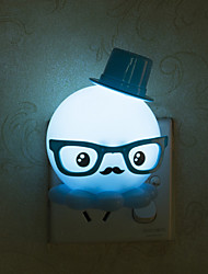 Lovely Octopus Light Smart Light Controlled Emergency LED Night Light for Kids Room Home Decoration(Assorted Color)