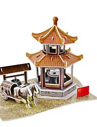 Недорогие -Китайский павильон 3d головоломки бумажные поделки игрушки молдинг игрушки