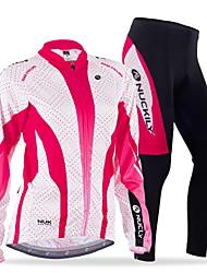 Nuckily Maglia con pantaloni da ciclismo Per donna Manica lunga Bicicletta Maglietta/Maglia Set di vestiti Antivento Design anatomico
