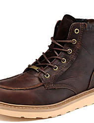 Men's Shoes Nappa Leather Winter Fall Cowboy / Western Boots Motorcycle Boots Combat Boots Boots Booties/Ankle Boots for Athletic Outdoor