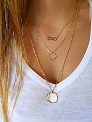cheap -Women's Pendant Necklace  -  Infinity European, Simple Style, Fashion Golden Necklace For Party, Daily, Casual