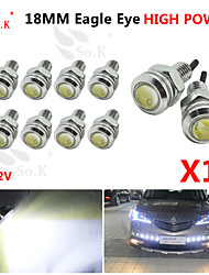 cheap -10X 18MM 9W white LED Eagle Eye Daytime Running DRL Backup Light Fog Car Auto  12V