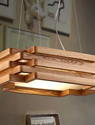 billiga -15 Hängande lampor ,  Modern / Rustik Rektangulär Särdrag for Ministil Trä/Bambu Dining Room / Sovrum