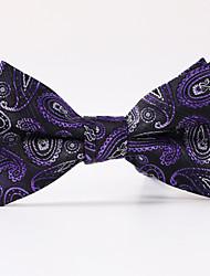Недорогие -мужская вечеринка / вечерняя свадьба фиолетовый пейсли формальный бабочка лук галстук