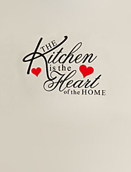 The Kitchen Is The Heart Of The Home Quote Wall Decal ZY8191 Adesivo De Parede Removable Vinyl Wall Sticker