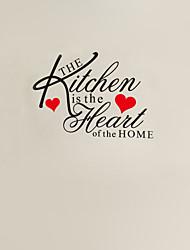 a cozinha é o coração da citação casa parede decalque zy8191 Adesivo de Parede de vinil adesivo de parede removível