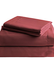 Comfortable Microfibre Sheet Set Plain Solid Reactive Print